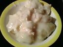 ミニ餃子とミニロールキャベツ入りクリームスチュー丼