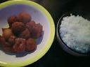 (鶏肉&里芋&肉団子&南瓜)の煮込みの&ごはん