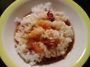 鶏肉&里芋&肉団子&南瓜の煮込み汁ブッカケ飯