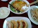 塩ラーメン&餃子&とんそく&半ライス(サービス)