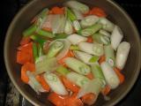 好やき豆腐たけのこ水煮ニンジン長ネギ味噌煮込み
