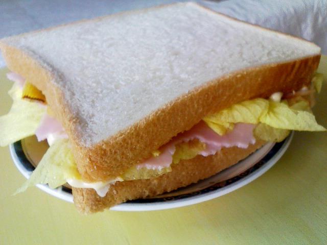花おくらのサンドイッチ