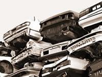 大量の廃車