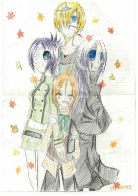 秋の4人(可愛い)