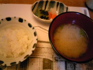 「ご飯、お味噌汁、香の物」料理処 和多留(福岡市)