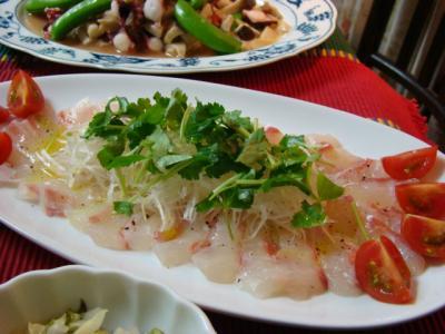 鯛のカルパッチョわさび風味