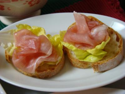 生ハムの美味しいパン