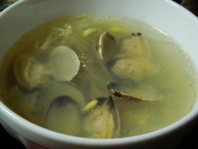 あさりと豆もやしのスープ