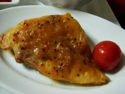 鶏ソテー粒マスタードソース
