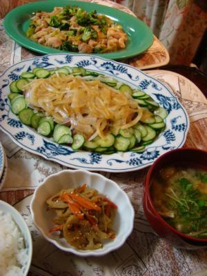 ブロッコリーと鶏肉の炒め物