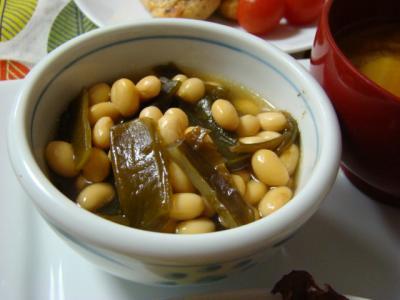 大豆と茎わかめ!