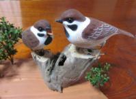 木彫り 雀