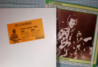 Ry Cooderのライブ2種