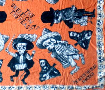 メキシコ骸骨バンダナ