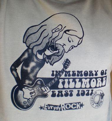 EverydayRock T Shirt Duane Allman Caricature