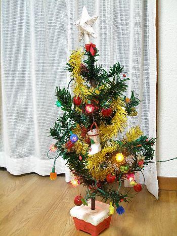 約30年前の、クリスマスツリー 点灯前