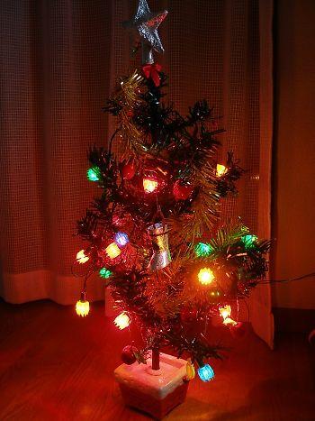 約30年前の、クリスマスツリー 点灯後