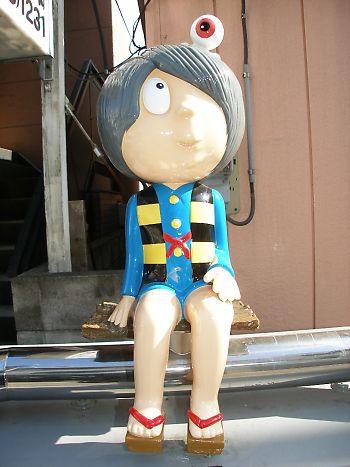 天神通りにあるゲゲゲの鬼太郎キャラクター像
