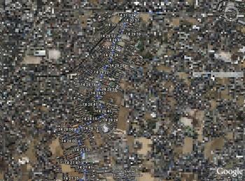 多少道路から軌跡がずれている箇所が所々あります。