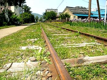 旧手宮線は北海道最初の鉄道。