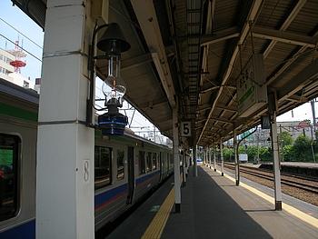小樽駅ホームのランプ!