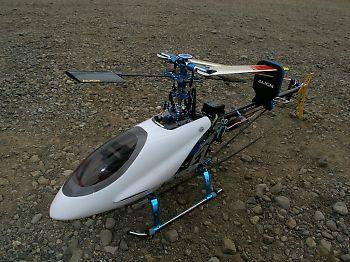 フライト前のT-REX450 V2