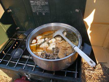 ちげ鍋が振舞われ、暖まることが出来ました。