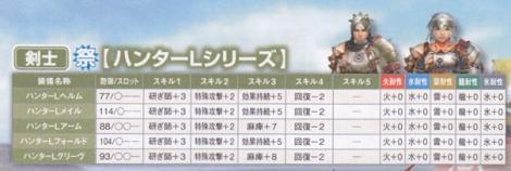 190【剣士】ハンターLシリーズ