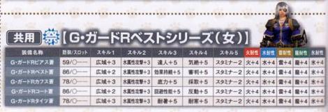198【共用】ギルドガードR蒼♀シリーズ