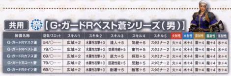 199【共用】ギルドガードR蒼♂シリーズ
