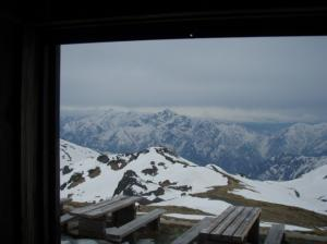 20080505小屋からの剣岳