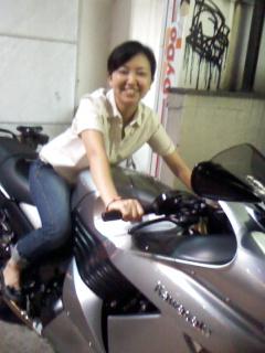 長岡とバイク