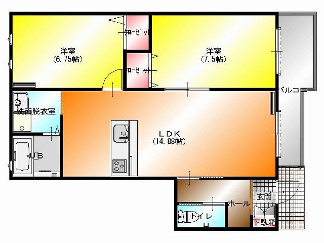 ドルフファミリア 1階 平面図