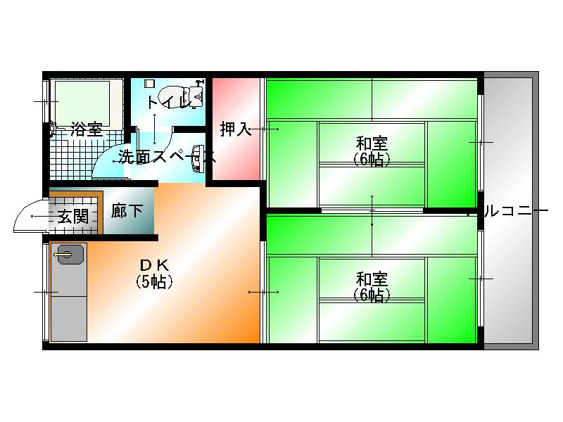 経塚アパート 平面図