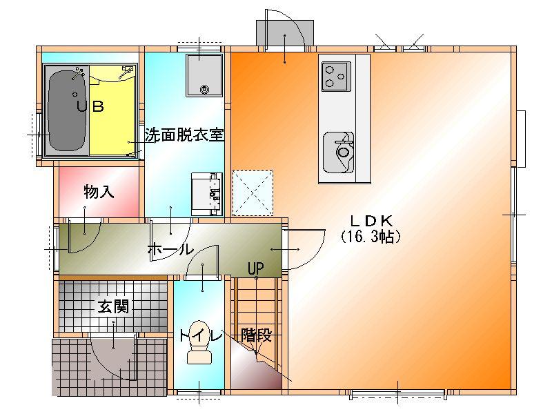 阪南市黒田一戸建 1階 平面図