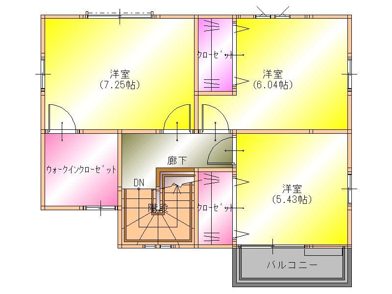 阪南市黒田一戸建 2階 平面図