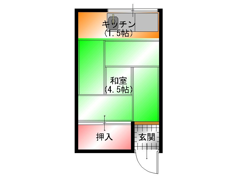 上田荘 間取図