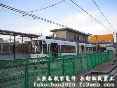 熊本市電の日本初のLRV(超低床電車)