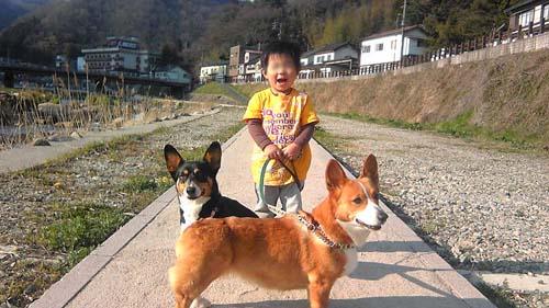 子供も犬も超ごきげん