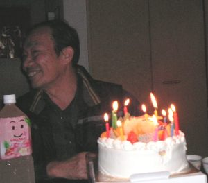 誕生日ケーキ父