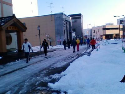 AL富良野1123②雪道歩き