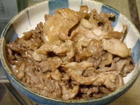 豚と牛の生姜焼き
