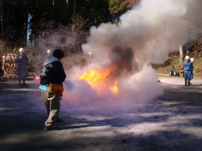 消火中~!