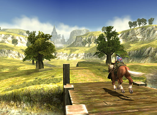 馬に乗って平原を駆ける