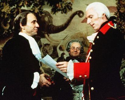 サリエリ(左)とヨーゼフ二世(右)