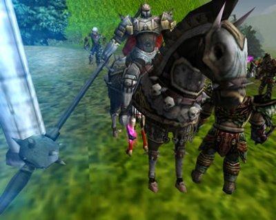 3D MMORPG オンラインゲーム 「ナイトオンライン クロス」