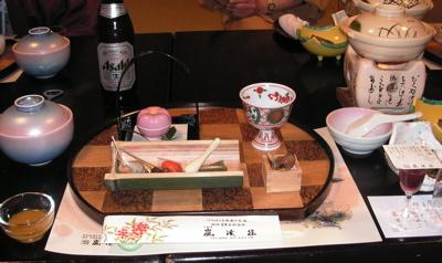 嵐渓荘夕食