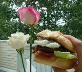 flower and burger