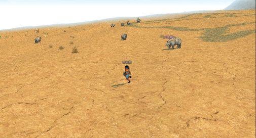 內兒斯(ナレス)高原和倫迦(ロンガ)沙漠交界