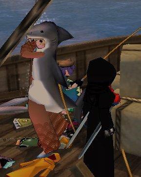 鯊魚袍近照